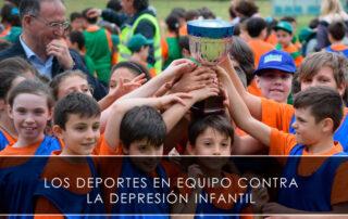 deportes en equipo reducen el riesgo de depresión en niños